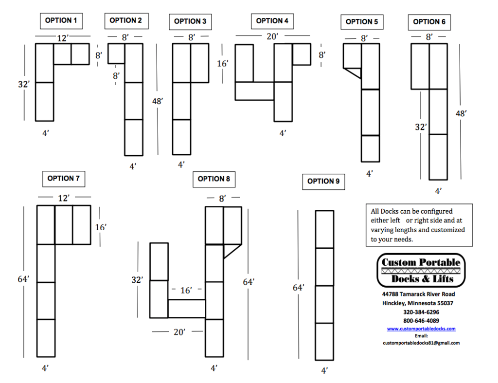 Diagram of Dock Options